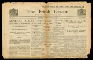 Final edition of The British Gazette 13 May 1926